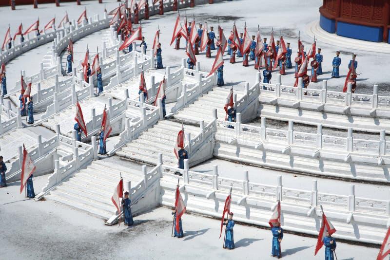 Militares miniatura chinos foto de archivo