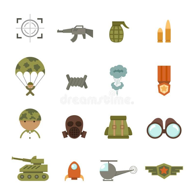 Militari ed icone di guerra royalty illustrazione gratis