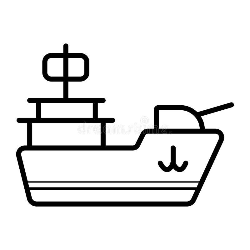 Militaristisk skeppsymbol vektor illustrationer