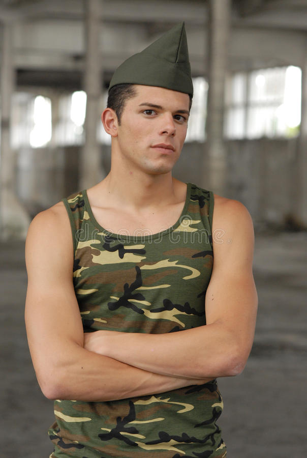 Militarna chłopiec fotografia royalty free