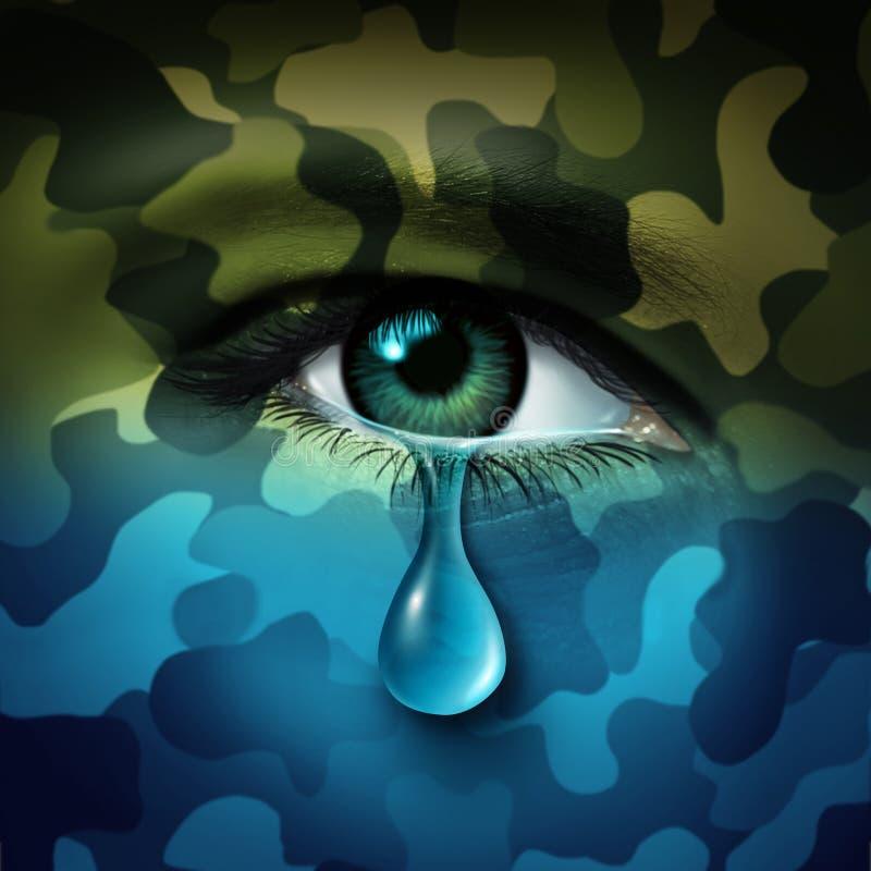 Militarna depresja ilustracji
