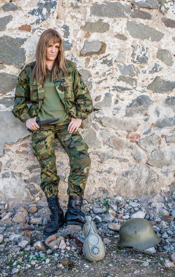Militarna dziewczyna obraz royalty free