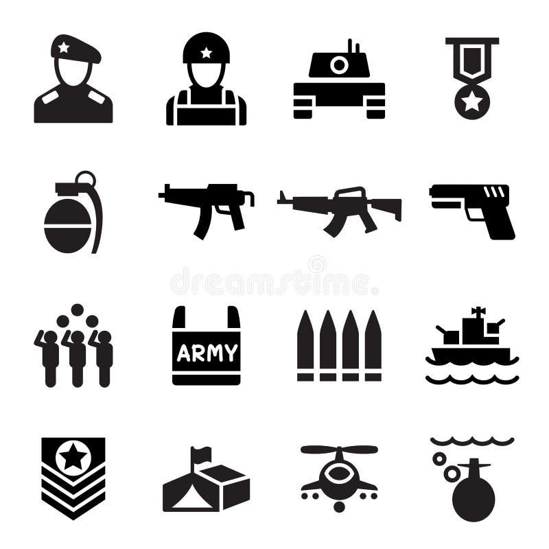 Militarna ikona royalty ilustracja