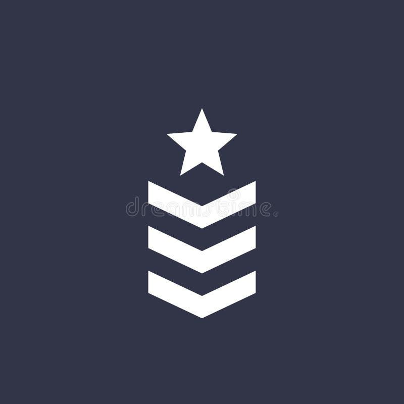 Militarna kategoria, wojsko wektor royalty ilustracja