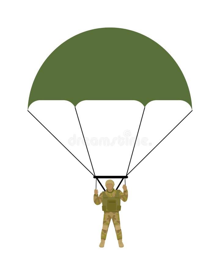 Militarna Parachutists wektoru ilustracja ilustracja wektor