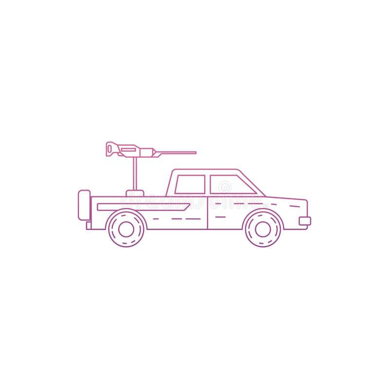 militarna pickup ikona w Nolan stylu Jeden wojsko inkasowa ikona może używać dla UI/UX ilustracja wektor