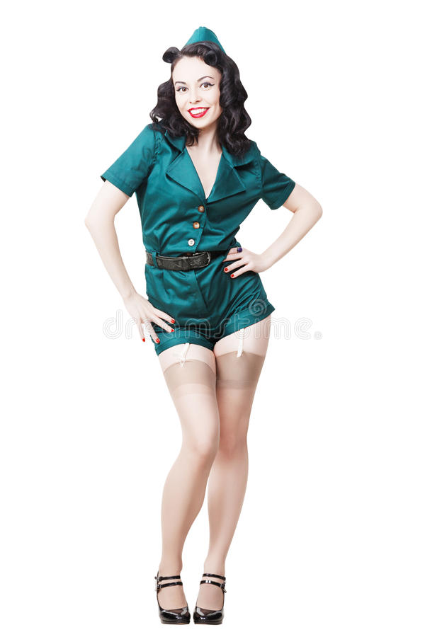 Militarna szpilki kobieta zdjęcia stock