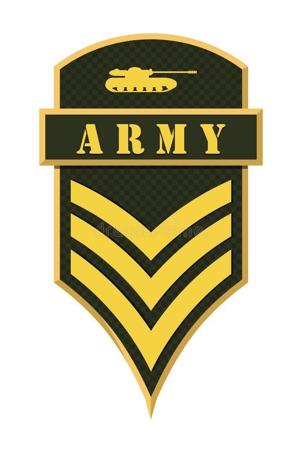 Militarne kategorie i insygnia Lampasy i szewrony wojsko royalty ilustracja