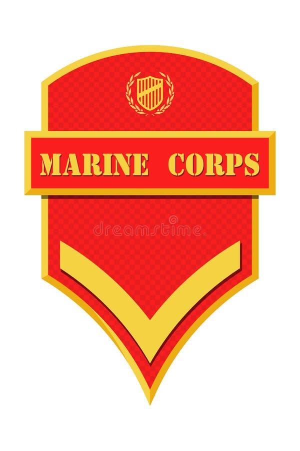 Militarne kategorie i insygnia Lampasy i szewrony wojsko ilustracja wektor
