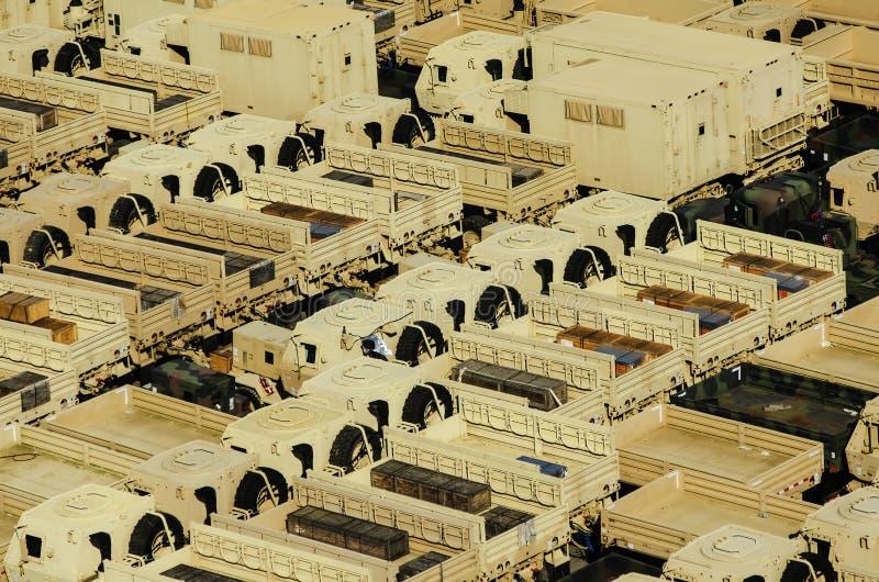 Militarne transport ciężarówki zdjęcie stock