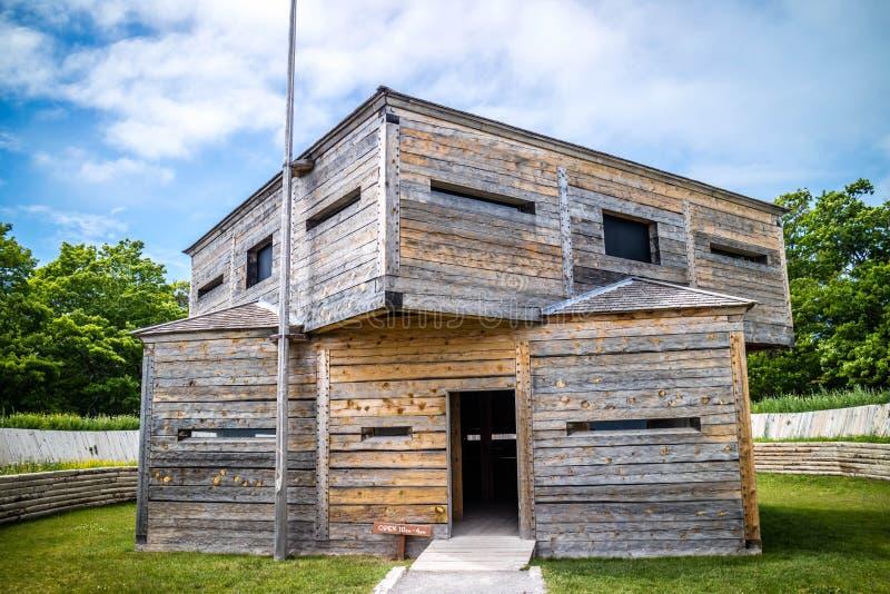 Militarnej bazy fort w Mackinac wyspie, Michigan obrazy royalty free