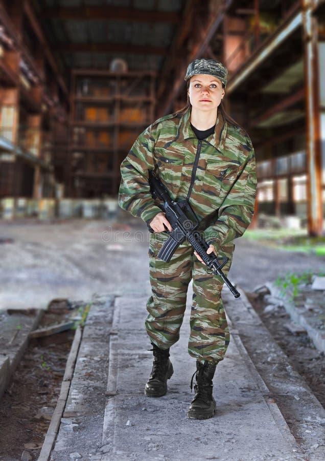 militarnej operaci kobieta obrazy royalty free
