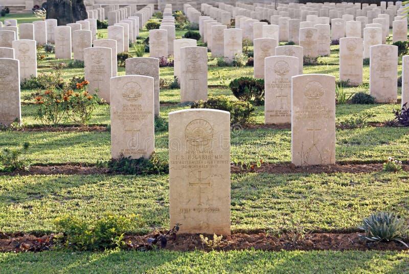 Militarni cmentarniani Australijscy kawaleria korpusy od Pierwszy światu obraz stock
