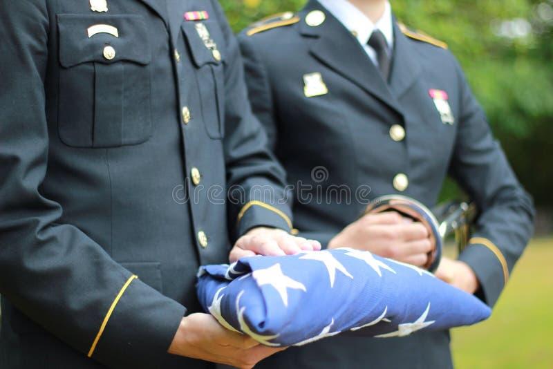 Militarni honory obraz royalty free