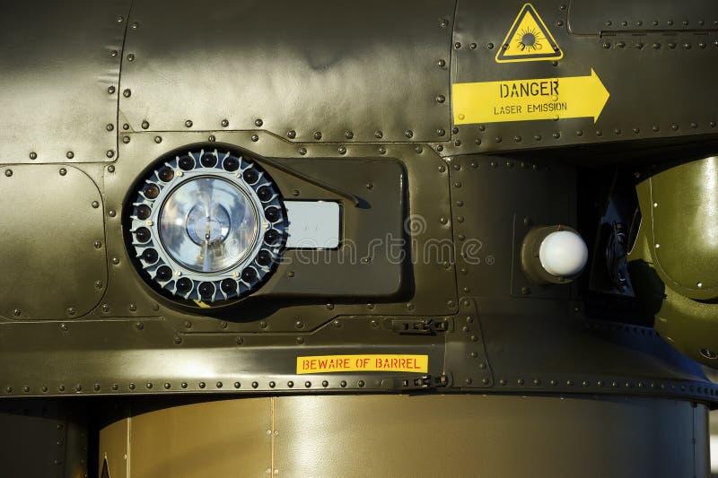 Militarny śmigłowcowy reflektor obraz stock