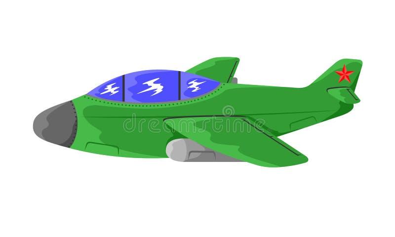 Militarny bojowy samolot ilustracja wektor
