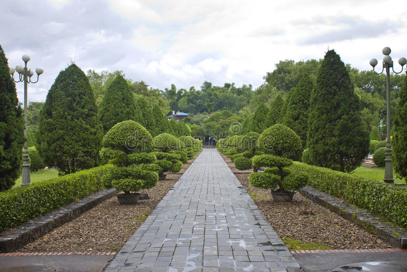Militarny cmentarz w Dien Bien Phu obrazy royalty free