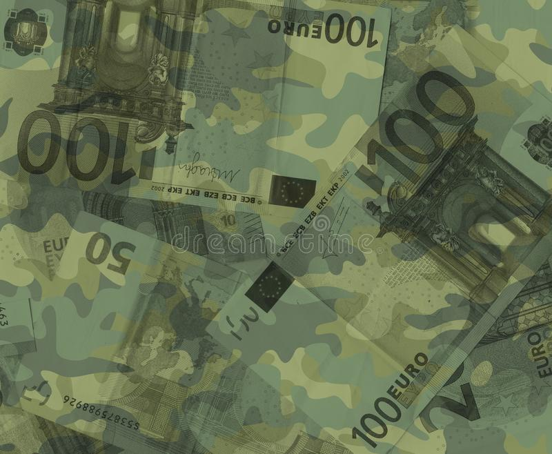 Militarny euro royalty ilustracja