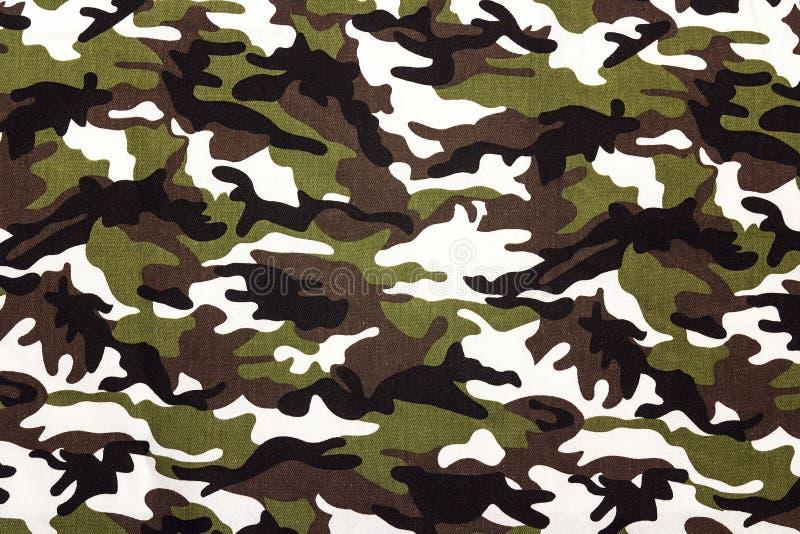 Militarny kamuflażu płótna wzoru tło obraz stock