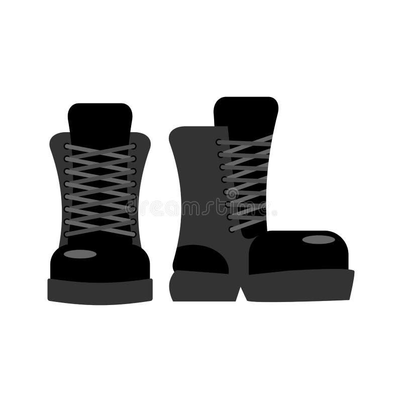 Militarny obuwie Żołnierza dodatku specjalnego buty Wojsko but royalty ilustracja