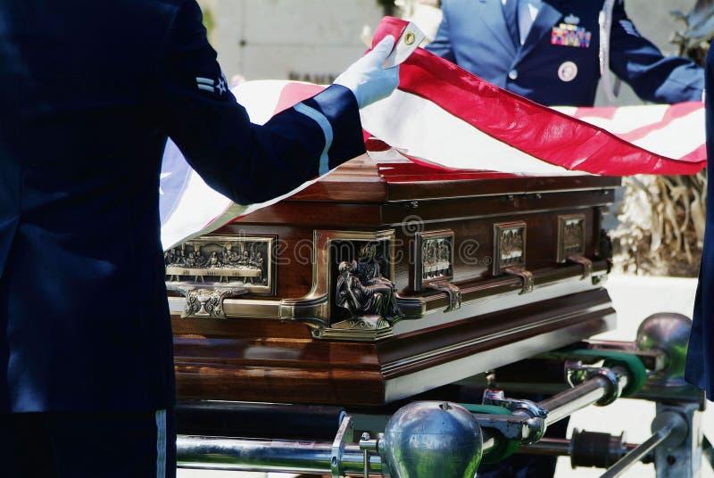 Militarny pogrzeb obraz royalty free