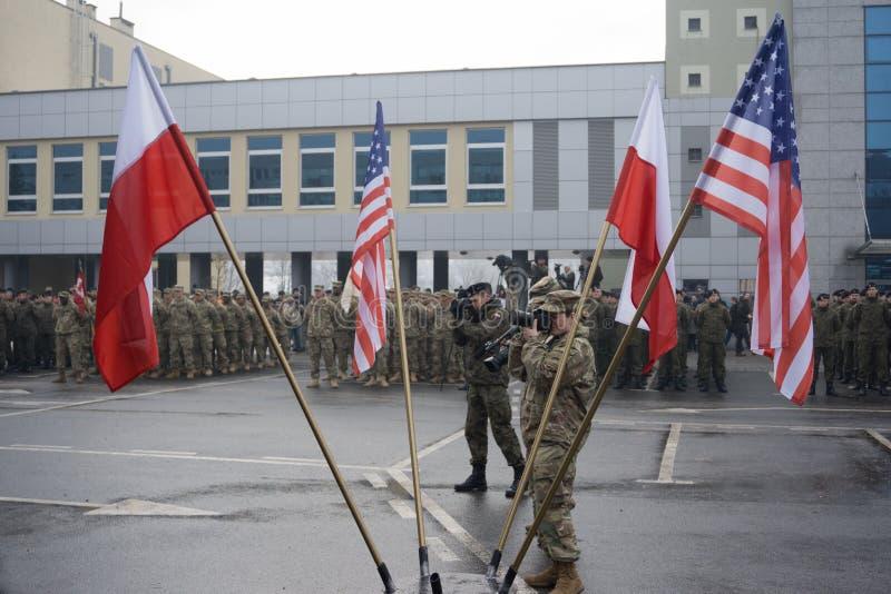 Militarny przegląd fotografia stock