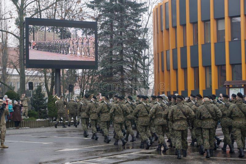 Militarny przegląd fotografia royalty free