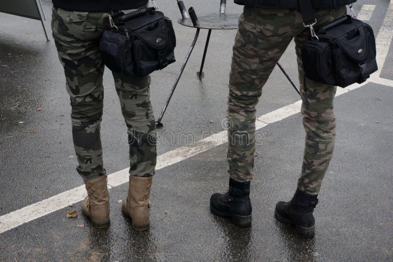 Militarny przegląd zdjęcia royalty free