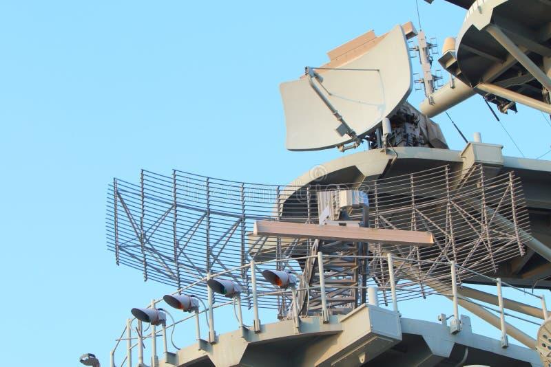 Militarny radar obraz stock
