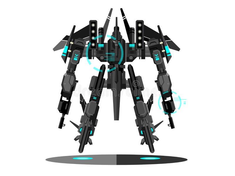 Militarny robota transformator royalty ilustracja