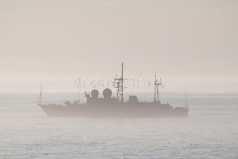 Militarny statek obrazy royalty free