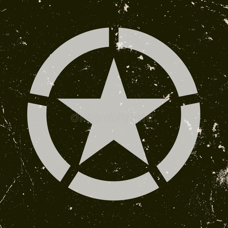 Militarny symbol ilustracja wektor
