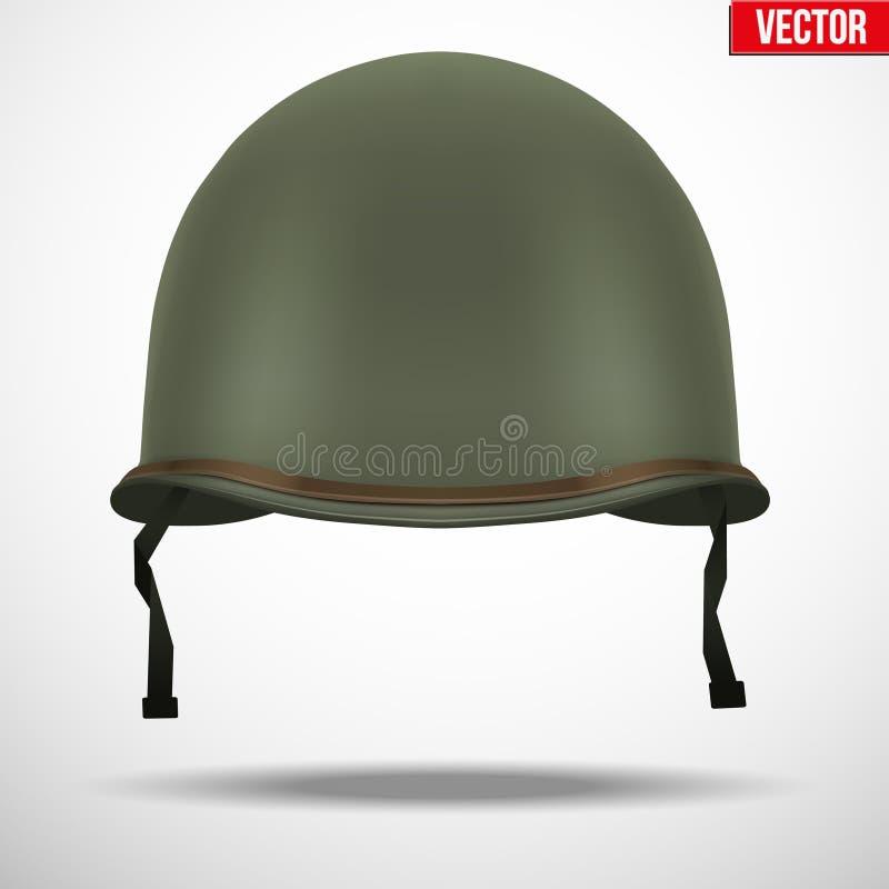 Militarny USA hełm M1 WWII ilustracja wektor