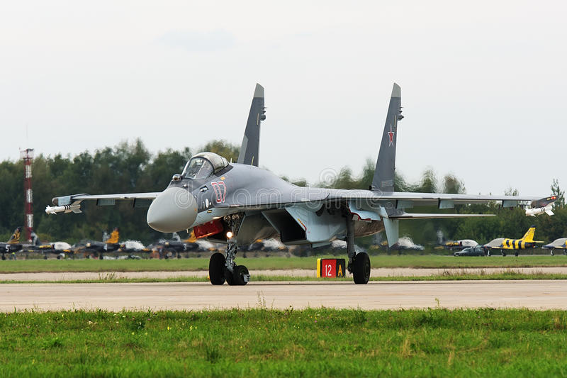 Militarny wojownik Su-27 obraz royalty free