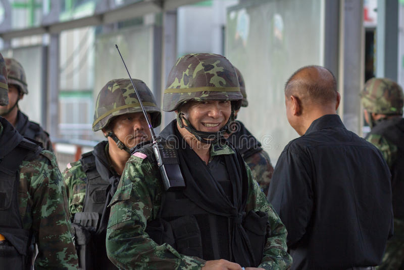 Militarny wyczyn Thailand zdjęcia stock
