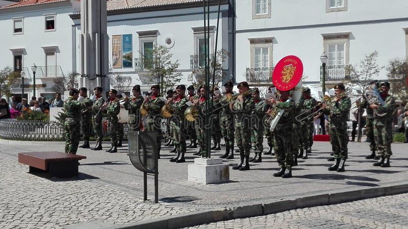 Militarny zespół w Tavira Portugalia obraz stock