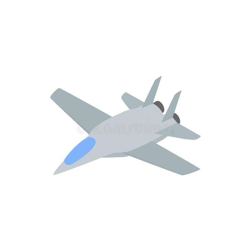 Military aircraft icon, comics style royalty free illustration