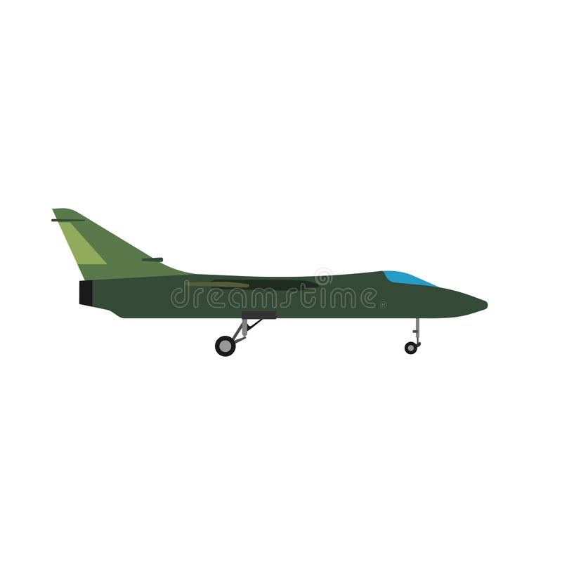 Free Military Aircraft Side View Vector Icon Aviation Fighter Jet. War Plane Isolated Bomber Force. Cartoon Navy Warfare Machine Stock Image - 146750151