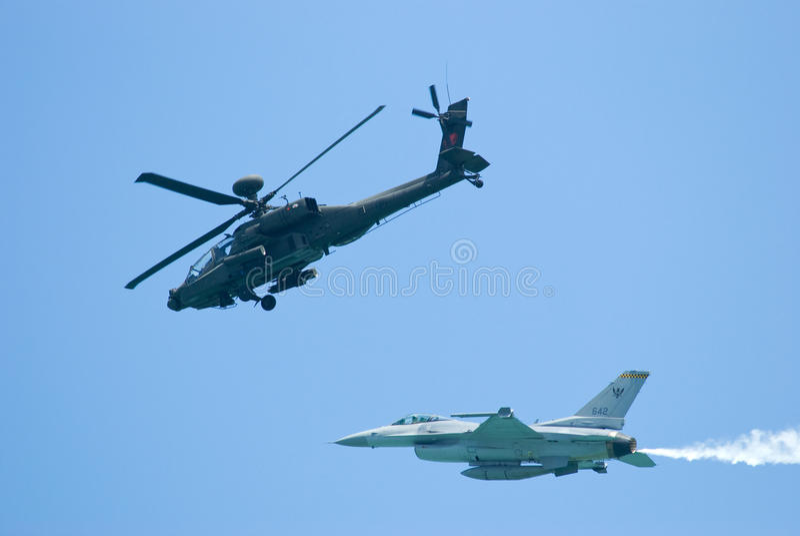 Military aircrafts at Singapore Airshow 2010