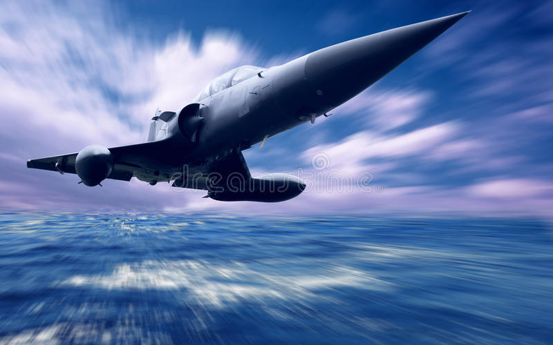 Military airplane royalty free stock photography