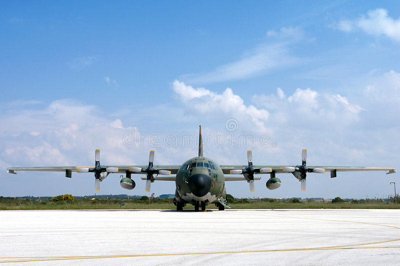 Download Military Airplane stock photo. Image of daylight, frontview - 2940356