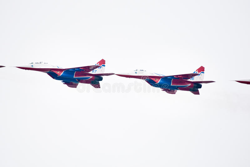 Military airplane su 27