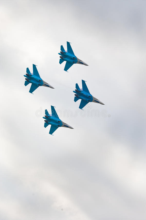 Download Military airplane su 27 editorial stock image. Image of clouds - 19610249