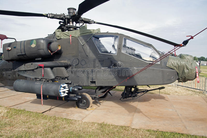 Military Apache AH-64D combat helicopter stock photos