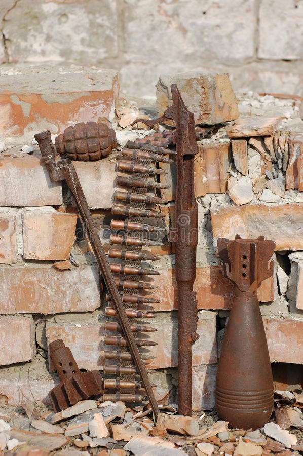 Download Military archeology stock photo. Image of damage, detector - 13809326