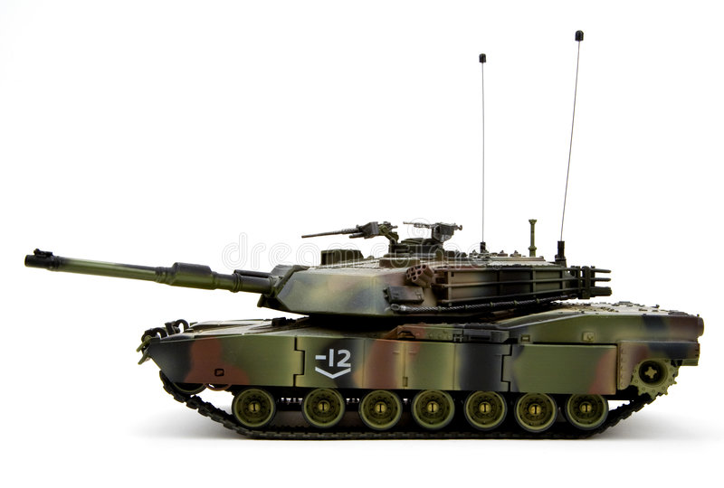 Military Armored Tank. United States Army Military Armored Tank Figurine stock image