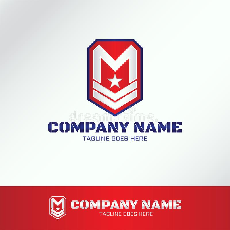 Military Army Logo Template with letter vector illustration
