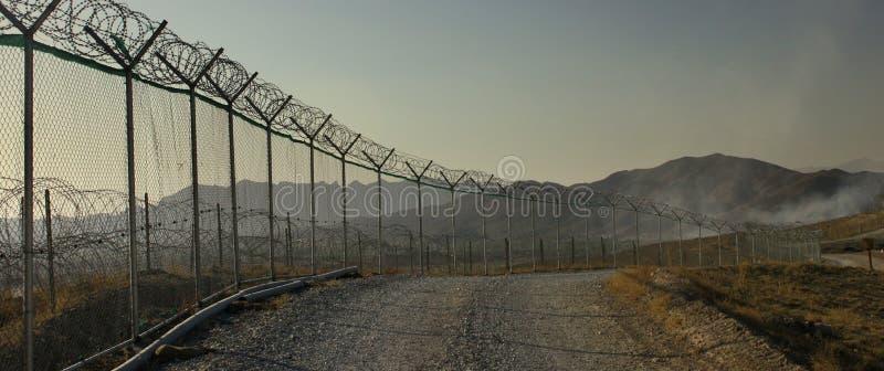 Military base afghanistan stock image