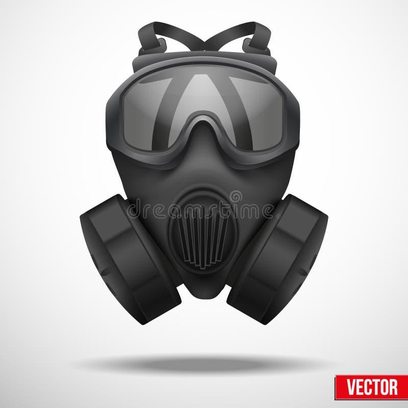 Free Military Black Gasmask Respirator Vector Stock Images - 38699824