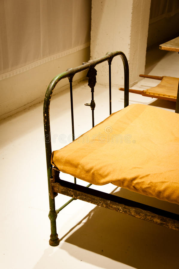 Military Bunker Bed Stock Photo